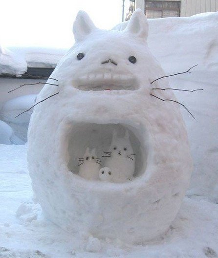 Totoro Made Of Snow